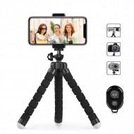 Suport Mini Trepied Flexibil Multifunctional pentru Telefon sau Camera Video - TRI01