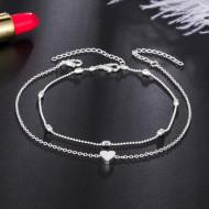 Bratara argintie pentru glezna BG001-V2