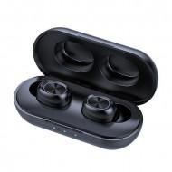 Casti fara fir, in-ear, stereo, Bluetooth 5.0, negru, TWS-11