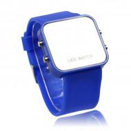 Ceas LED M008-V7-albastru-inchis