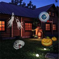 Proiector kwb 12pcs Halloween, Crăciun lumini de peluză impermeabil