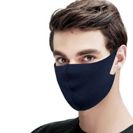 Set 10 buc Masca protectie pentru fata Fashion, culoare bluemarin