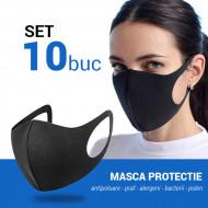 Set 10 buc Masca protectie pentru fata Fashion, negru