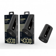 Acumulator extern 4000Mah 1A 1Usb, negru, PMTF360143