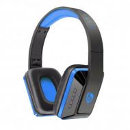 Casti audio bluetooth Ovleng MX111 albastru-negru, difuzor 40mm, microfon, slot sd card, radio fm, baterie 200mAh, distanta maxima 10m, wireless