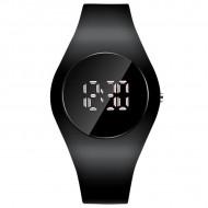 Ceas sport Led Unisex, Quartz, afisaj Digital, 40 mm, Negru, LED101