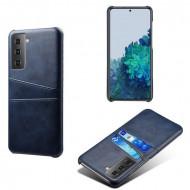 Husa Samsung Galaxy S21 FE, Dual Card Slots, albastru, S21FE-002