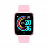 Smartwatch Y68, Fitness Tracker, Bluetooth, Roz