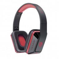 Casti audio bluetooth Ovleng MX111 rosu-negru, difuzor 40mm, microfon, slot sd card, radio fm, baterie 200mAh, distanta maxima 10m, wireless