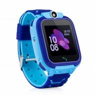 Ceas smartwatch GPS copii, monitorizare locatie, camera foto frontala, buton SOS, functie telefon , albastru - Q12B-Blue