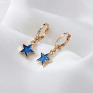 Cercei Dama, blue star - auriu CD028