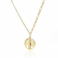 Colier fashion, placat cu aur 14K, NST2012