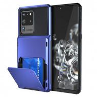 Husa Huawei P40 - Book Type Card Holder, albastru, HWP40-007