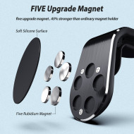 Suport Auto Magnetic Negru Universal Cu Clip - Negru