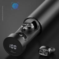 Casti fara fir, in-ear, stereo, Bluetooth 5.0, negru, TWS-9