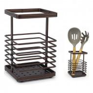 Suport pentru ustensile de bucătărie Confortime Metal Maro