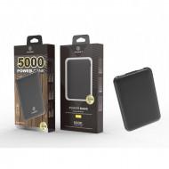 Acumulator extern 5000Mah 2A 2Usb, negru, PMTF360013