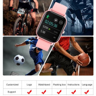 Ceas inteligent - Smartwatch P8 ecran cu touch 1.4 inch color HD, moduri sport, pedometru, puls, notificari, black