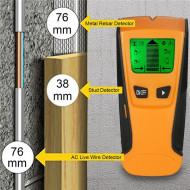 Detector cabluri electrice ,curent , metal , armatura , profile rigips, grinzi lemn, raza actiune 76mm , Floureon