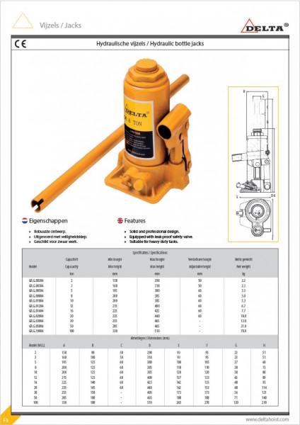Poze Cric hidraulic tip butelie 50 tone