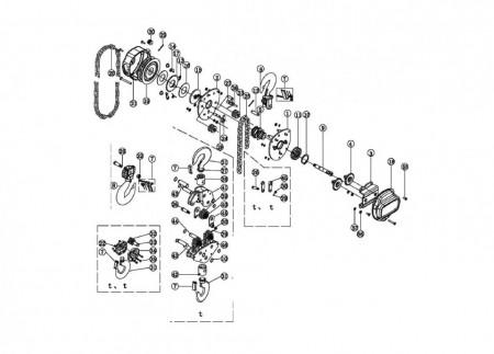 Poze Palan manual cu lant 0.5 tone, lungime: 3 metri antiex