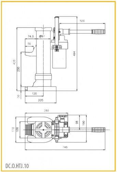 Poze Cric hidraulic cu talpa 10 tone