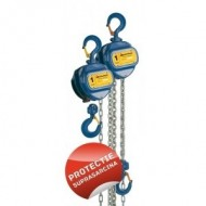 Palan manual cu lant 0.5 tone, lungime: 10 metri