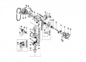 Palan manual cu lant 4 tone, lungime: 3 metri antiex