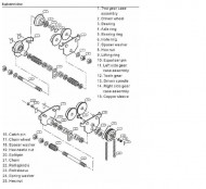 Carucior port-palan de impingere 3000 kg