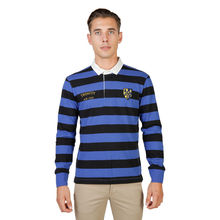 Tricou polo Oxford University TRINITY-RUGBY-ML-BLACK