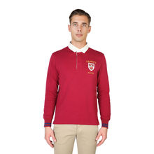 Tricou polo Oxford University QUEENS-POLO-ML-RED