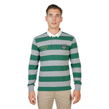Tricou polo Oxford University MAGDALEN-RUGBY-ML-GREEN