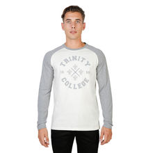 Tricouri Oxford University TRINITY-RAGLAN-ML-GREY