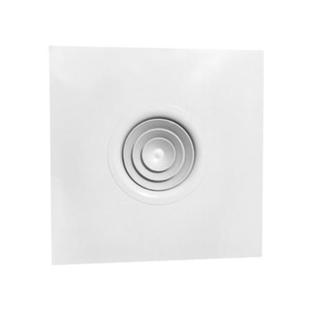Anemostat patrat 595x595 cu racord circular 150