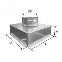 Plenum racord axial