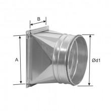 Schimbare de sectiune rectangular circular