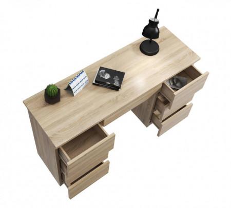 MBBIS1 - Birou 120 cm, masa de calculator cu 7 sertare, office - Sonoma