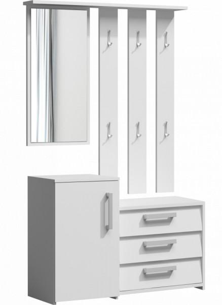 TECUIA103 - Set Cuier hol 99 x 36 x 180 cm - Alb-Mat