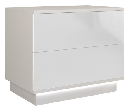 TENOA103 - Noptiera 55 x 35 x 47 cm, Alb-Lucios