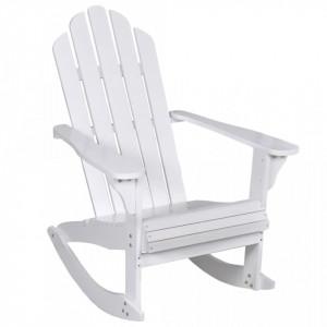 Balansoar de gradina, alb, lemn - V40861V