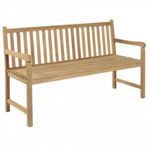 Banca de gradina, 150 cm, lemn de tec - V43247V