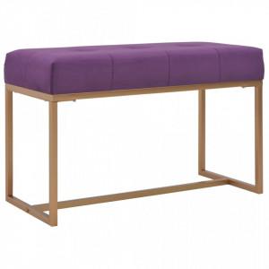 Banca, violet, 80 cm, catifea - V247557V