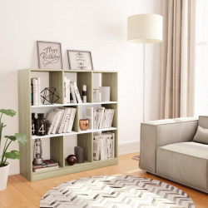Biblioteca, alb si stejar Sonoma, 97,5 x 29,5 x 100 cm, PAL - V800176V