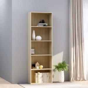Biblioteca cu 5 rafturi, stejar Sonoma, 60 x 30 x 189 cm, PAL - V800993V