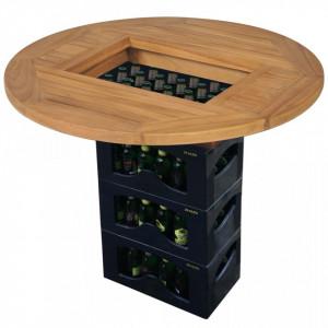 Blat de masa pentru lada de bere, 70 cm, lemn de tec - V43807V