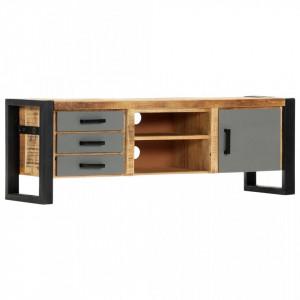 Comoda TV, 120 x 30 x 40 cm, lemn masiv de mango - V248014V