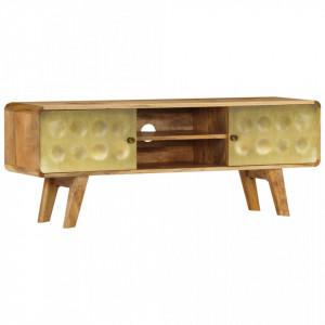 Comoda TV, 120 x 30 x 45 cm, lemn masiv de mango - V246340V
