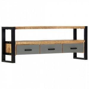 Comoda TV, 130 x 30 x 50 cm, lemn masiv de mango - V248012V