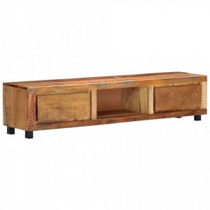 Comoda TV, 150 x 30 x 33 cm, lemn masiv reciclat - V247956V