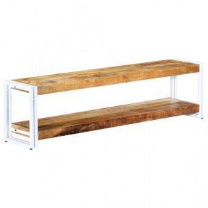 Comoda TV, 150 x 30 x 40 cm, lemn masiv de mango - V247825V